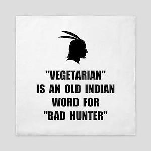Vegetarian Bad Hunter Queen Duvet