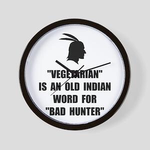 Vegetarian Bad Hunter Wall Clock