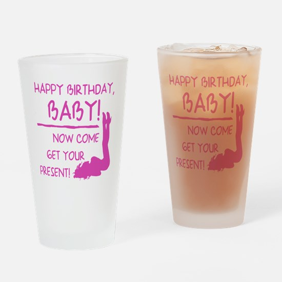 Sexy Birthday Gift For Men Drinking Glass