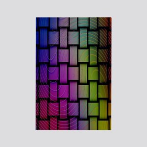 Lattice Fractal Rainbows Rectangle Magnet