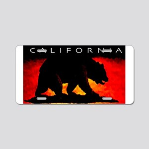 California Bear Aluminum License Plate