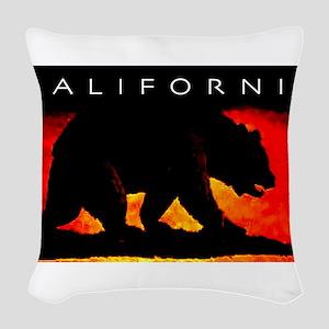 California Bear Woven Throw Pillow