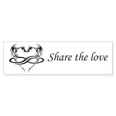 Share Love Polydragon Bumper Sticker