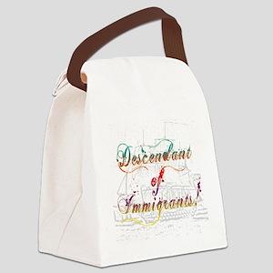 Descendant of Immigrants Canvas Lunch Bag