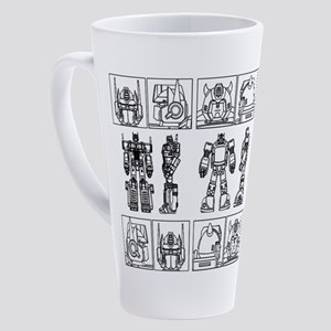 Bumblebee Blueprint 17 oz Latte Mug