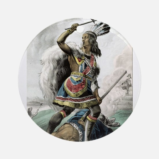 The Indian warrior - 1845 Round Ornament