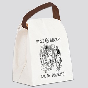 Darcy & Bingley are my homeboys Canvas Lunch Bag