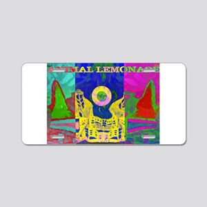 Psychedelic City Aluminum License Plate