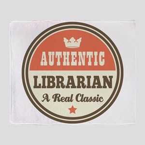 Librarian Funny Vintage Throw Blanket
