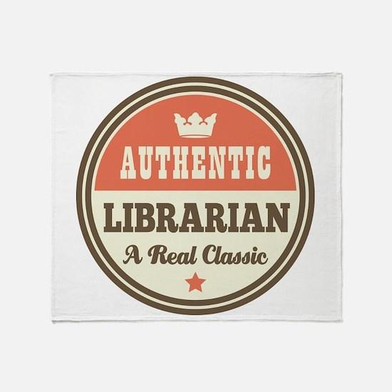 Librarian Funny Vintage Throw Blanket