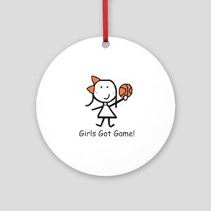 Girls Got Game Ornament (Round)