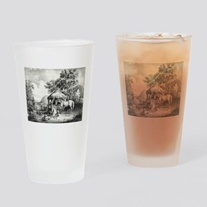 The glimpse of the homestead - 1859 Drinking Glass