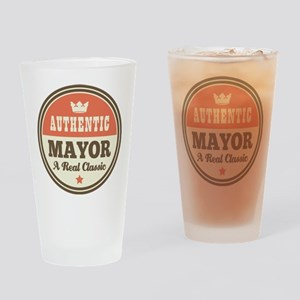 Mayor Funny Vintage Drinking Glass