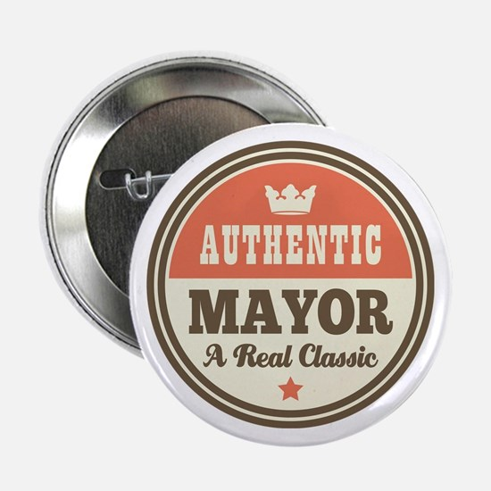 "Mayor Funny Vintage 2.25"" Button"