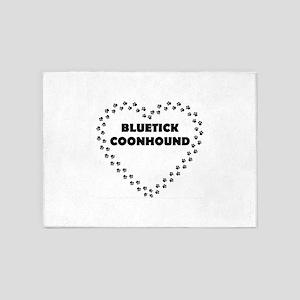 bluetick coonhound 5'x7'Area Rug