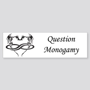 Polydragon Question Monogamy Bumper Sticker