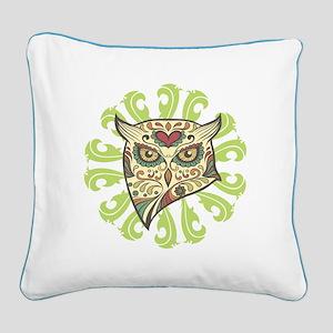 Sugar Owl Square Canvas Pillow