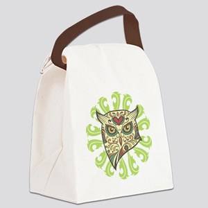 Sugar Owl Canvas Lunch Bag