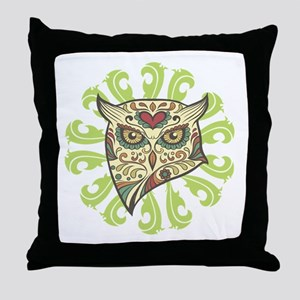 Sugar Owl Throw Pillow