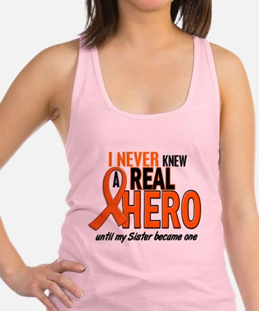 Never Knew A Real Hero 2 ORANGE Tank Top