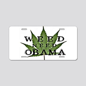 Marijuana Legalization Aluminum License Plate