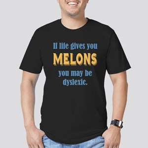 If Life Gives you Melons Men's Fitted T-Shirt (dar