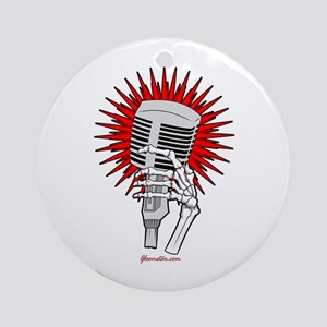 Rockabilly Microphone Ornament (Round)