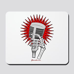 Rockabilly Microphone Mousepad