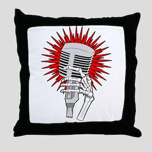 Rockabilly Microphone Throw Pillow