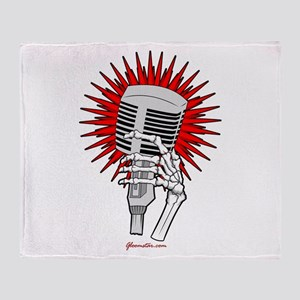 Rockabilly Microphone Throw Blanket