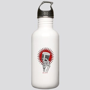 Rockabilly Microphone Stainless Water Bottle 1.0L