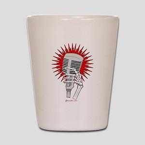 Rockabilly Microphone Shot Glass