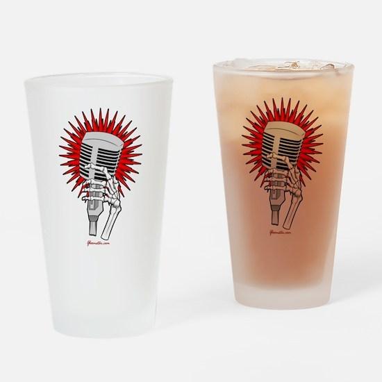 Rockabilly Microphone Drinking Glass