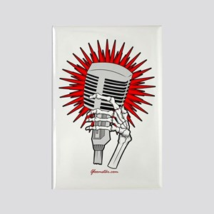 Rockabilly Microphone Rectangle Magnet