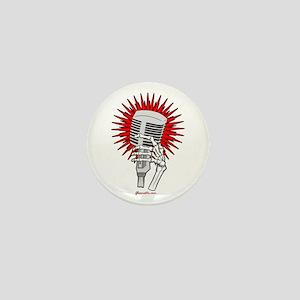 Rockabilly Microphone Mini Button