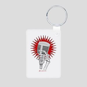Rockabilly Microphone Aluminum Photo Keychain