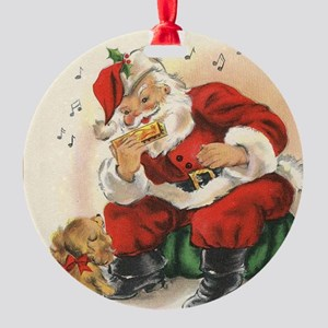 Santa and the Harmonica Vintage Series