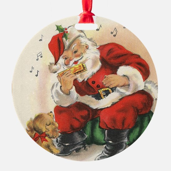 Santa and the Harmonica Vintage Series