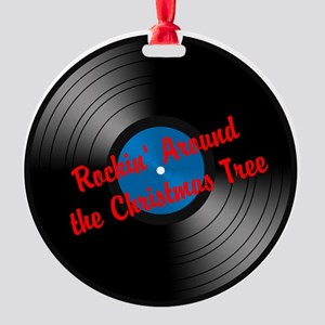 Rockin' Around the Christmas Tree - Round Ornament