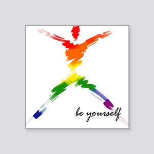 Gay Pride - Be Yourself Rectangle Sticker