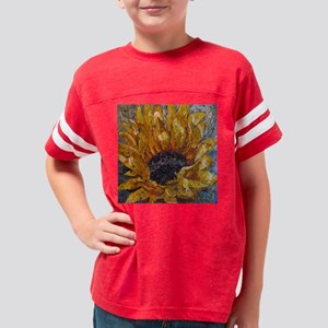 Painted Sunflower Youth Football Shirt