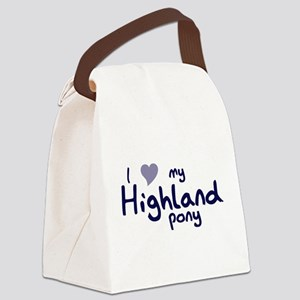 I love my Highland pony Canvas Lunch Bag