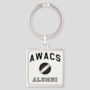 AWACS Alumni Square Keychain