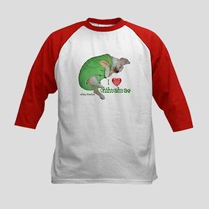 I Love Chihuahuas(Baby Porsha)Kids Baseball Jersey