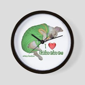I Love Chihuahuas(Baby Porsha) Wall Clock