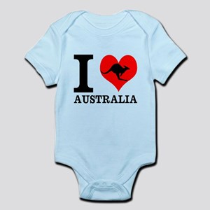 I Love Australia Body Suit