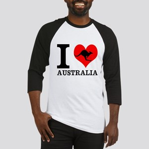 I Love Australia Baseball Jersey