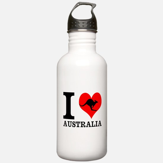 I Love Australia Water Bottle