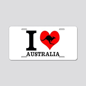 I Love Australia Aluminum License Plate