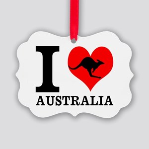 I Love Australia Ornament